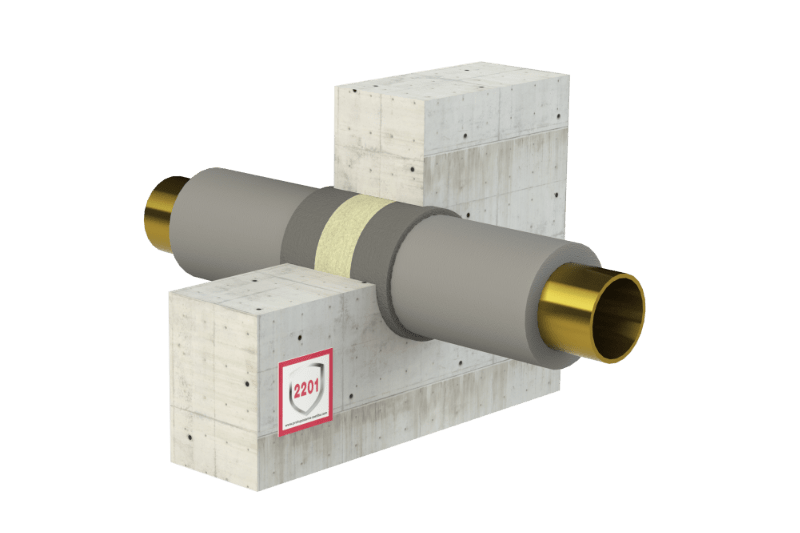 Protupožarno brtvljenje gorivih cijevi i negorivih cijevi s gorivom izolacijom - FS Wrap