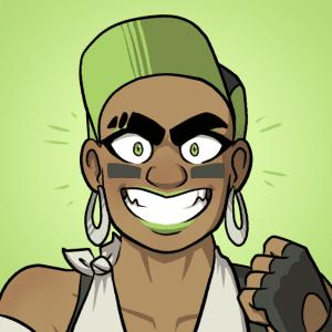 Ishi grins.