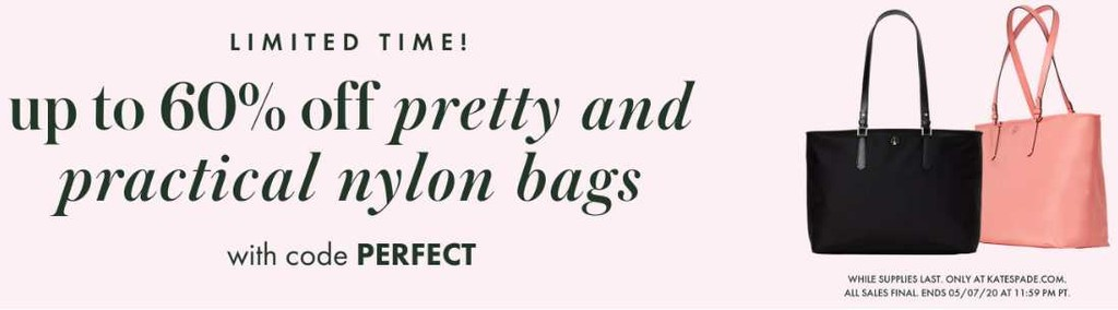 Limited time offers bags