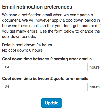 You can configure email notification cool down periods in your profile settings