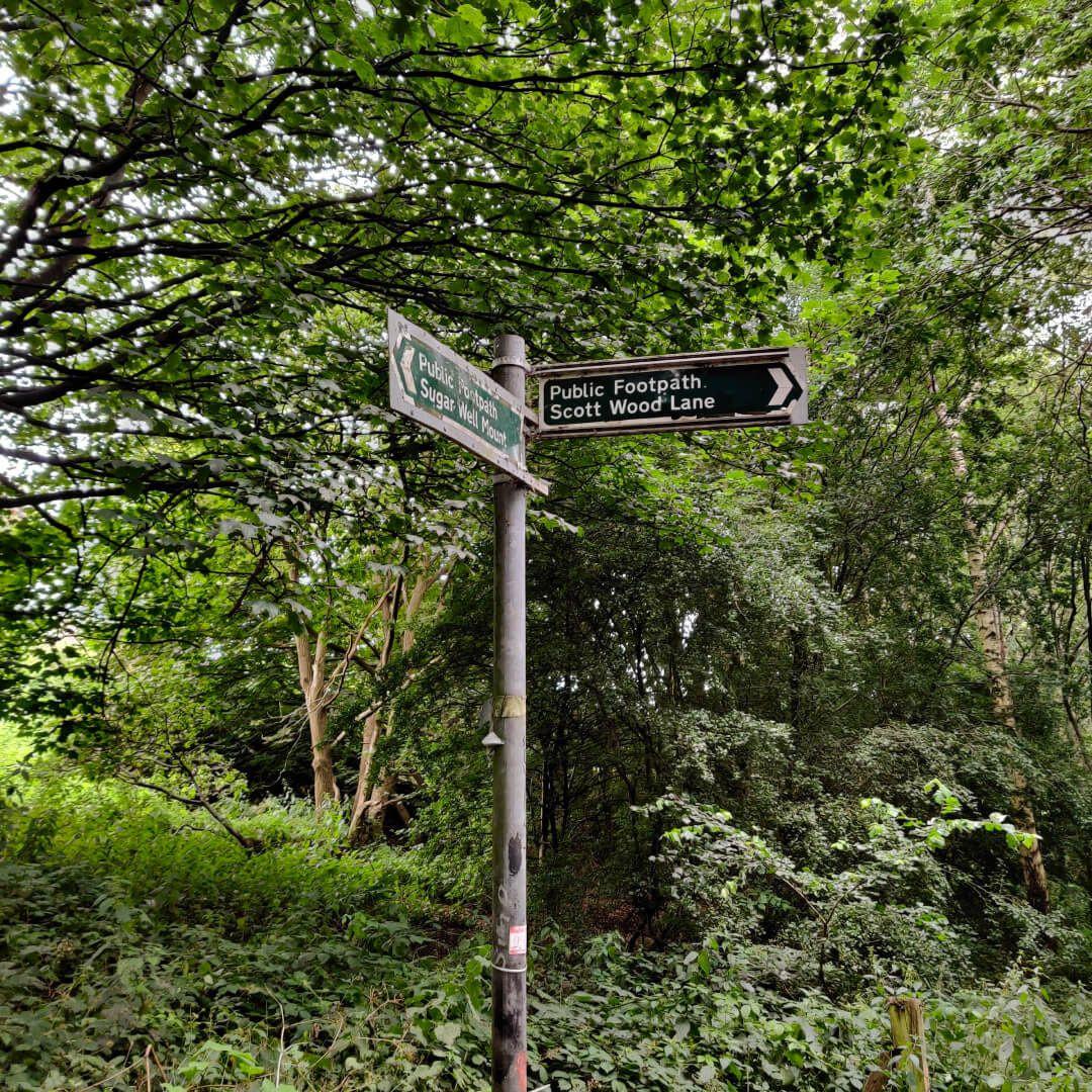 Sugarwell Hill Park sign