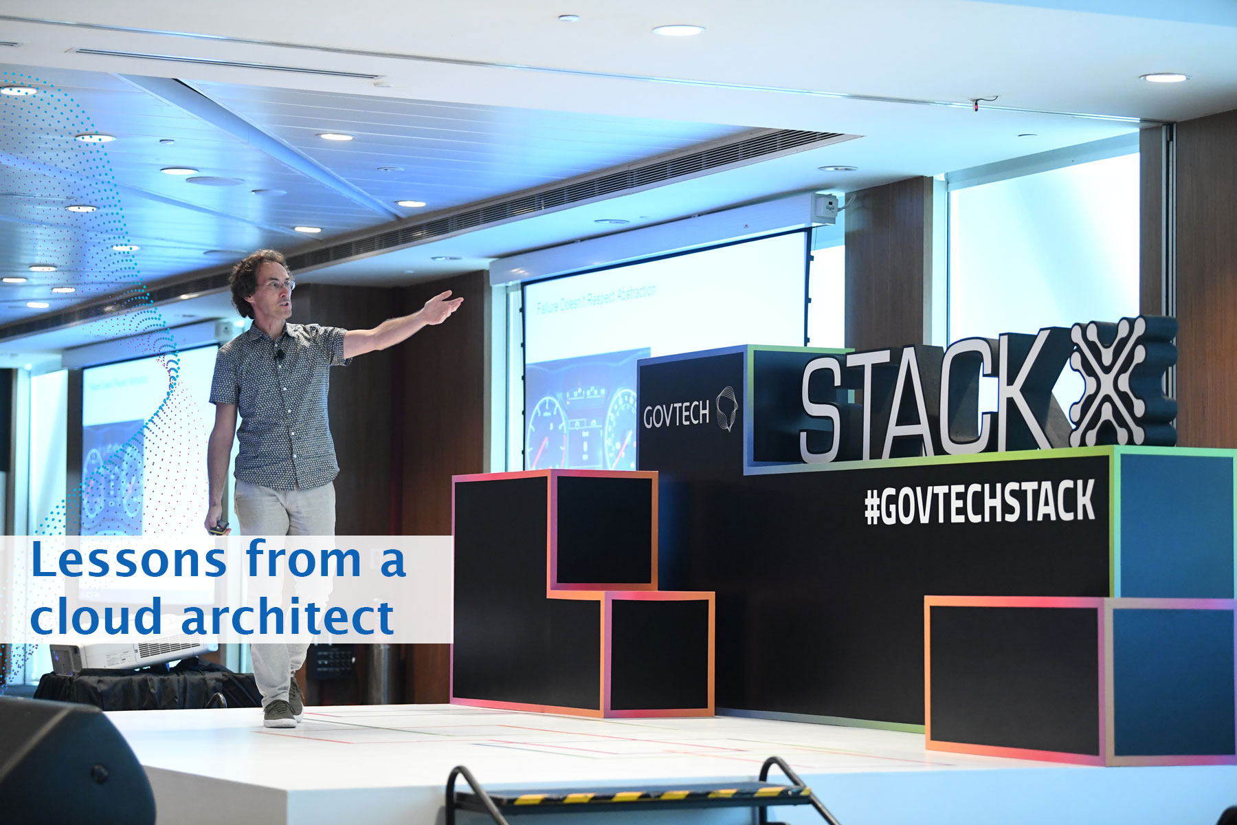 Gregor Hohpe, sharing about Cloud Architecture at Stack-X: Cloud organised by GovTech