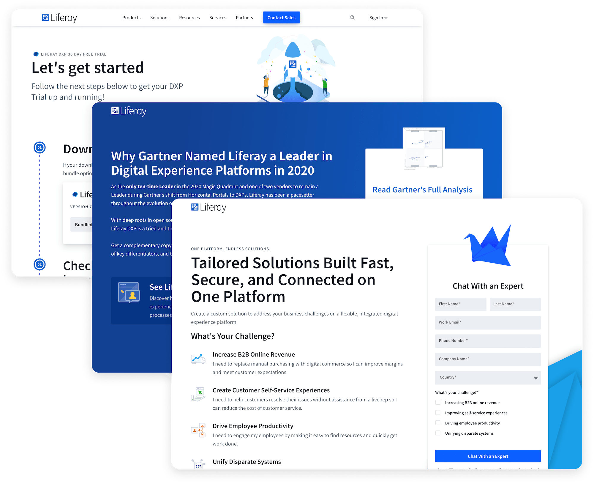 Landing pages built with the site builder
