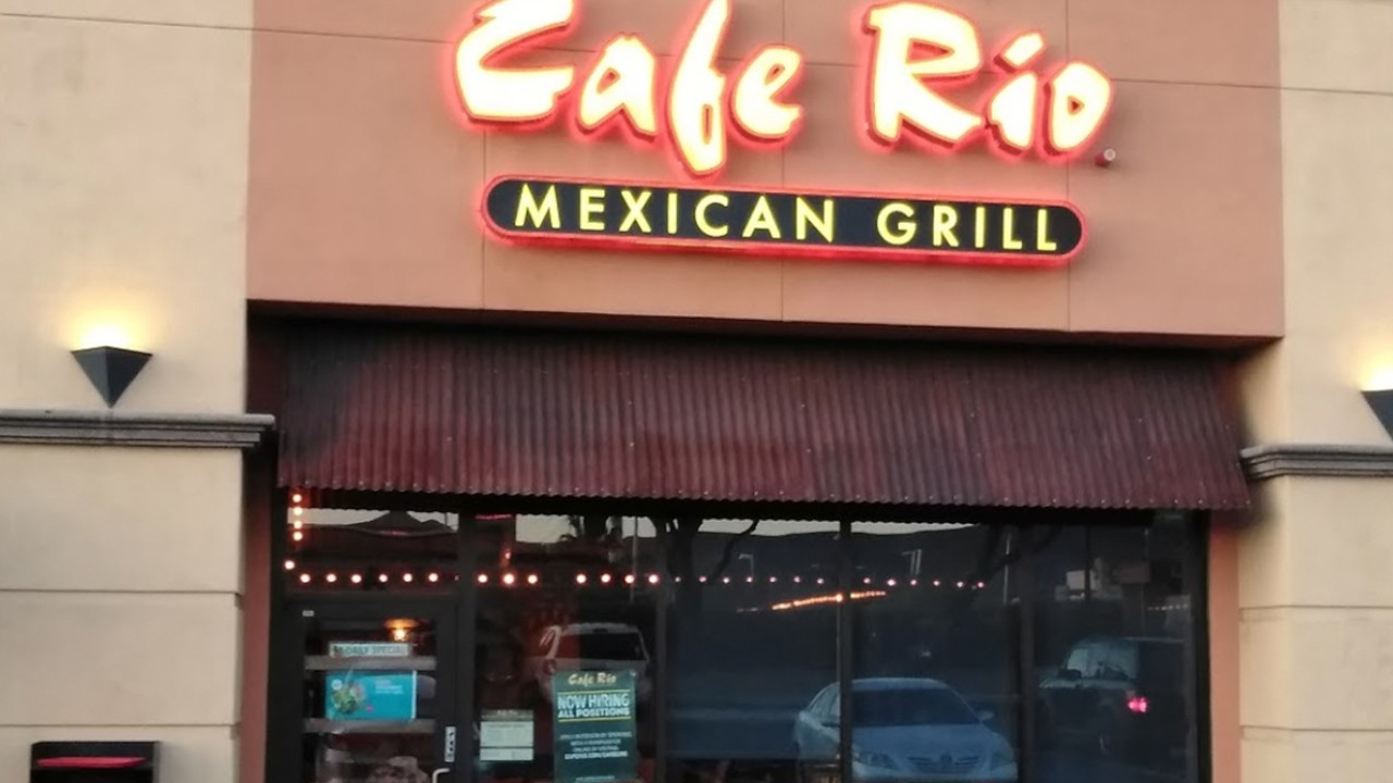 Pressure Washing Cafe Rio's Storefront and Siding