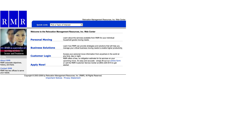 RMR's old website