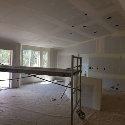 new drywall installation completed