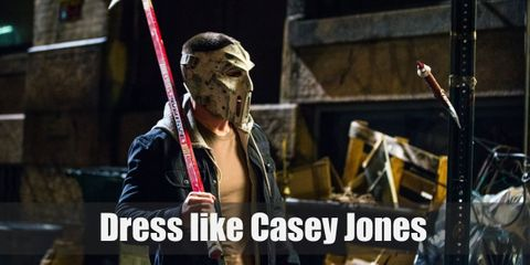Casey Jones can be a bit arrogant and self-centered at times, but this hockey stick-wielding vigilante means well and is incredibly loyal to his friends. He prefers wearing a sleeveless denim vest over his plain white tee, light gray pants, and a hockey mask in front of his face.