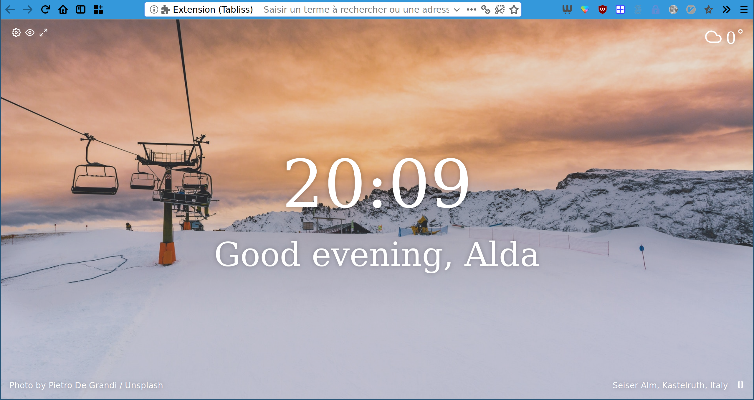 Firefox Quantum Minimalist Interface