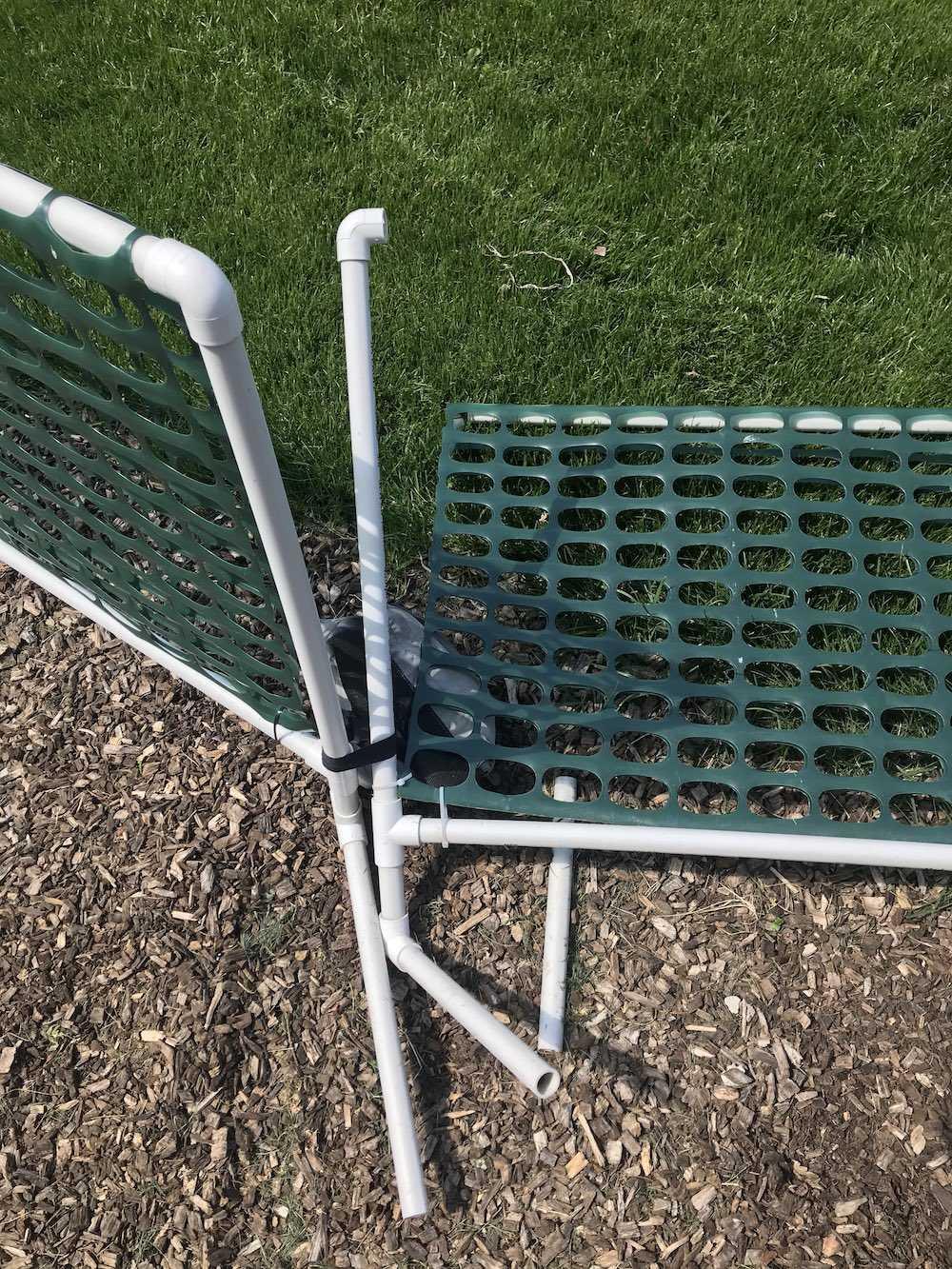 Unglued PVC Ring Gate Pulled Apart