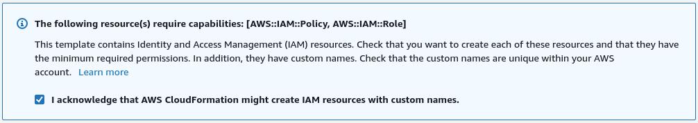 AWS CloudFormation Configure Step 3