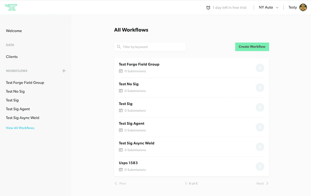View All Workflows
