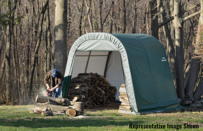 10x12x8 Round Shelter Green Colour