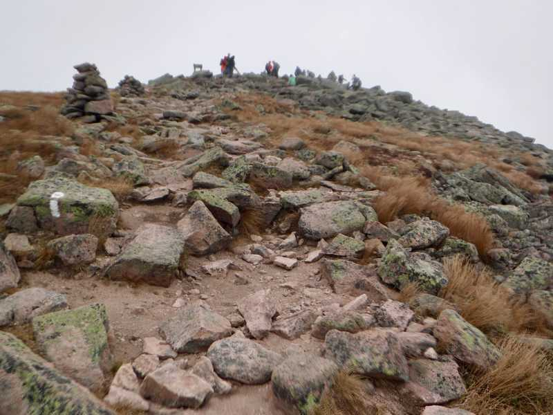 Closer to the summit of Mt. Katahdin