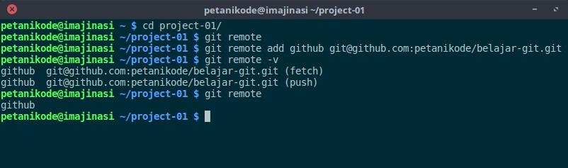 melihat remote di repository