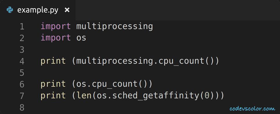 python find cpu count