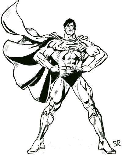 Superman Proud Sketch