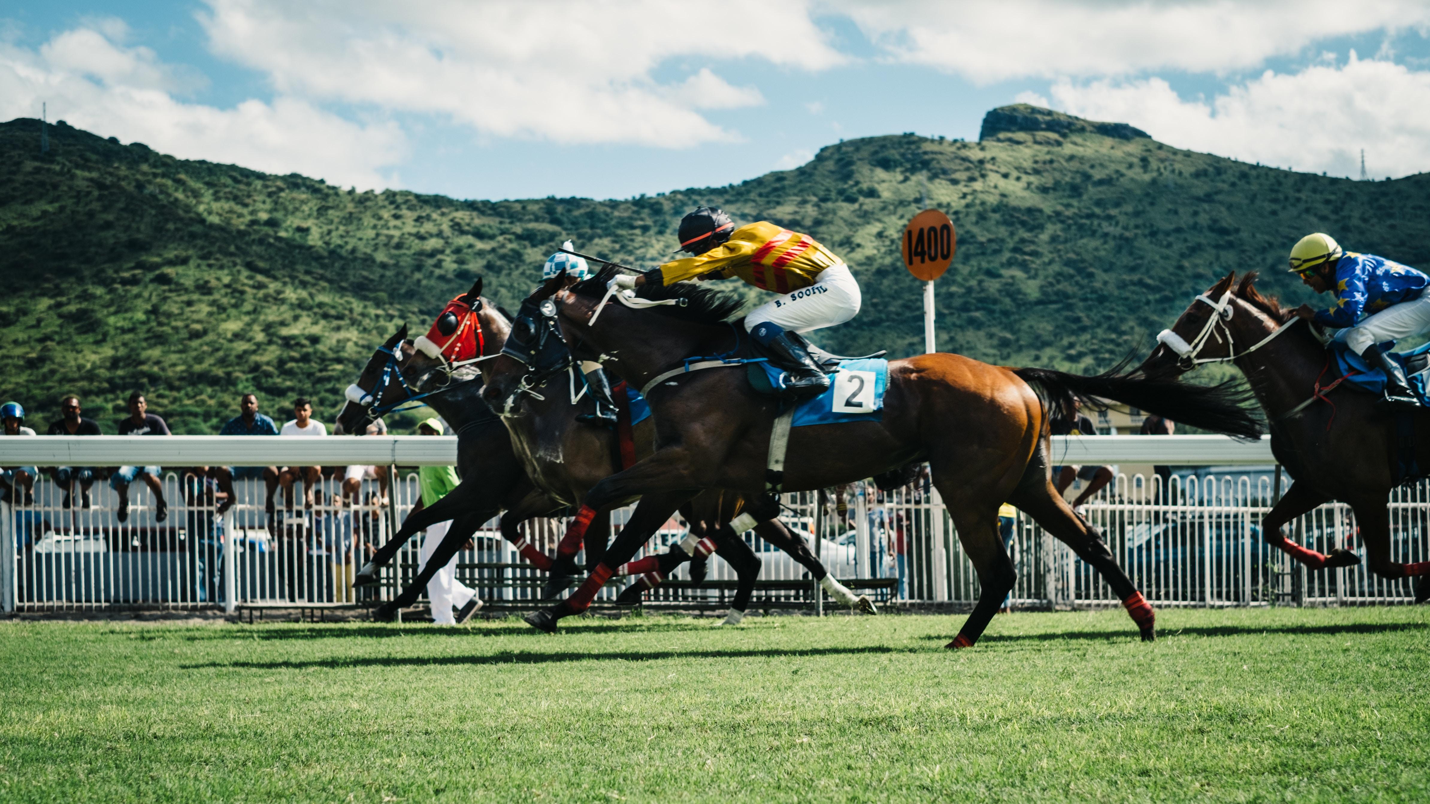 Cavalo correndo rápidamente