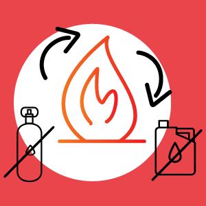 Flamme sans gaz ni fuel