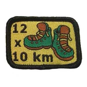 12 x 10km spejdermærke