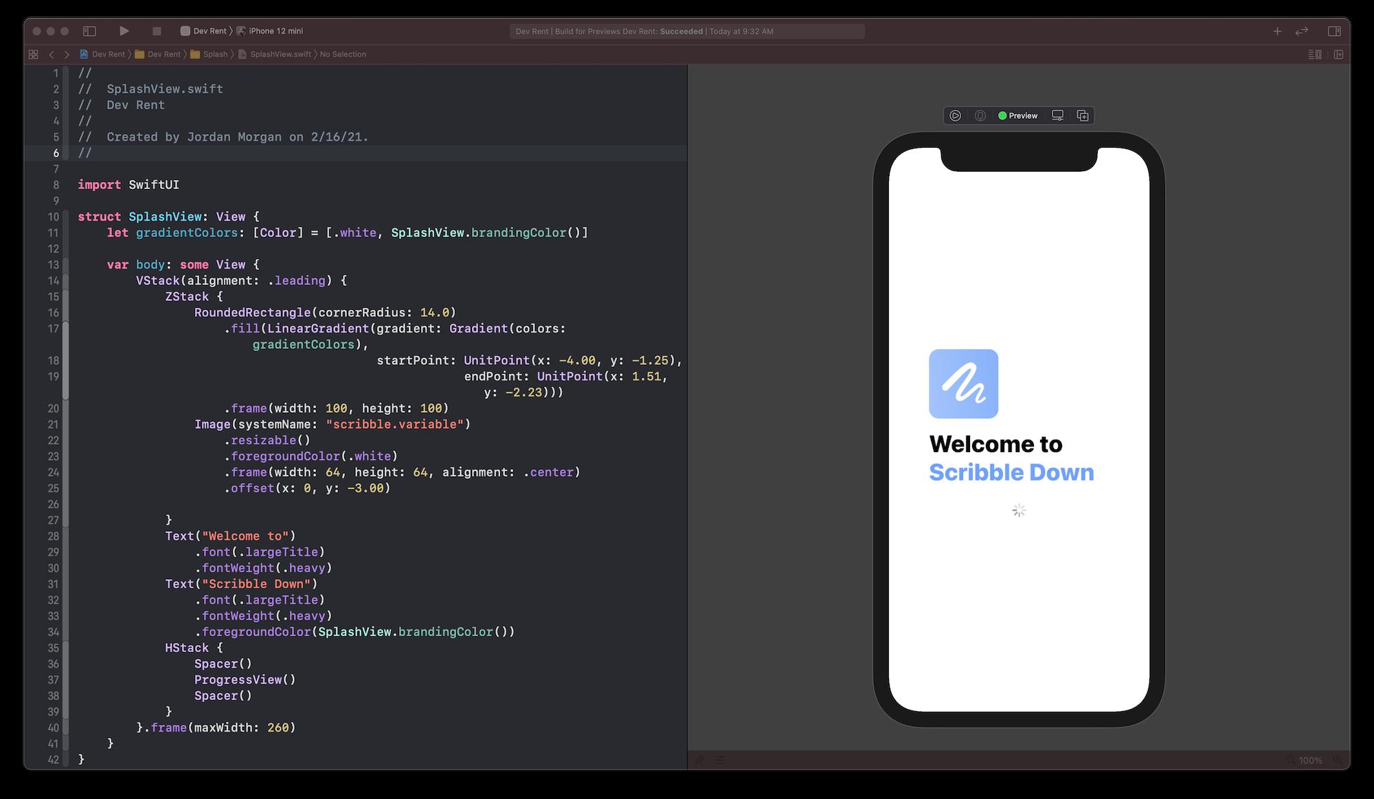 Xcode Screenshot