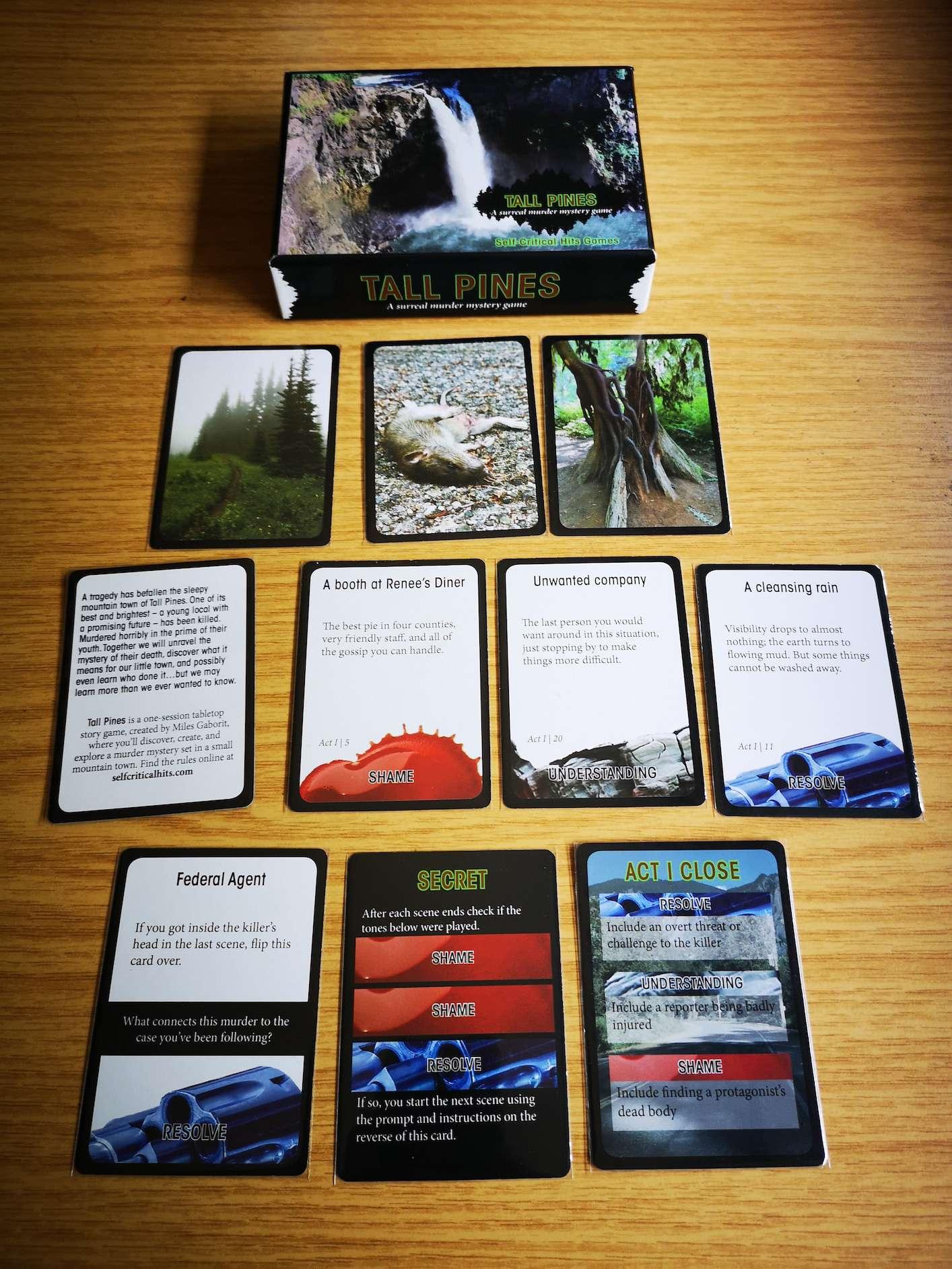 Ein paar beispielhafte Karten von jedem Typus, leichte Spoiler.