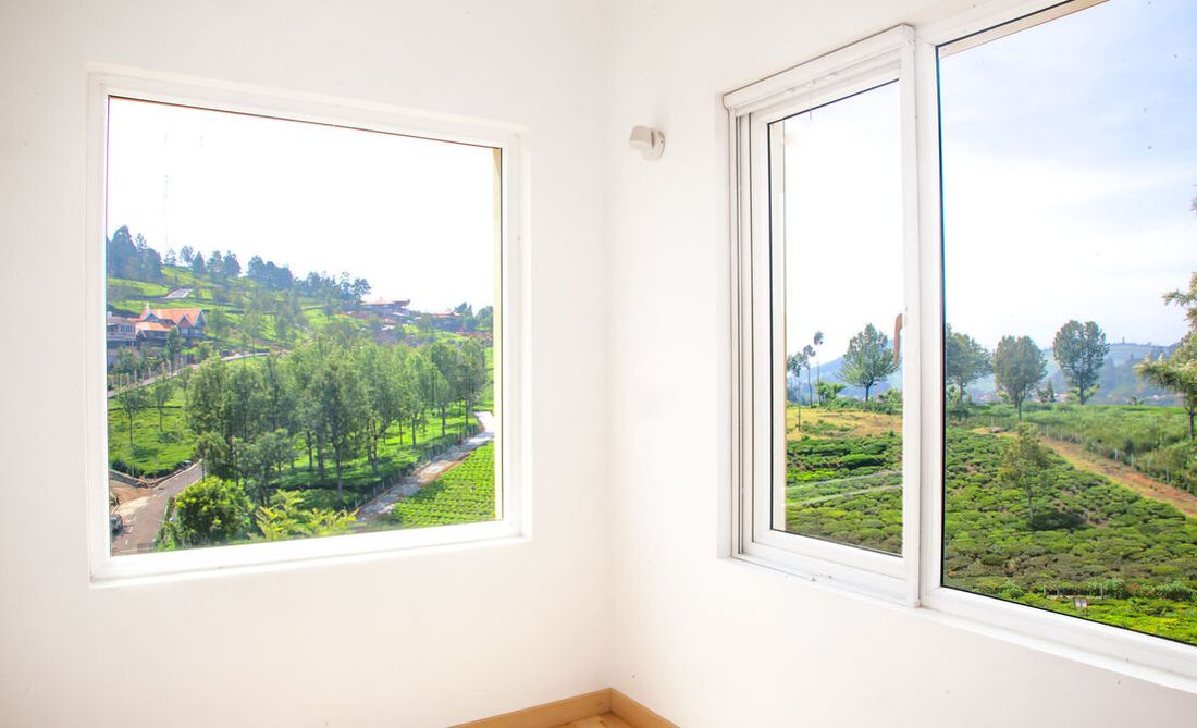 Study room of the master bedroom that looks out into the tea gardens