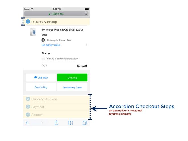Accordion checkout