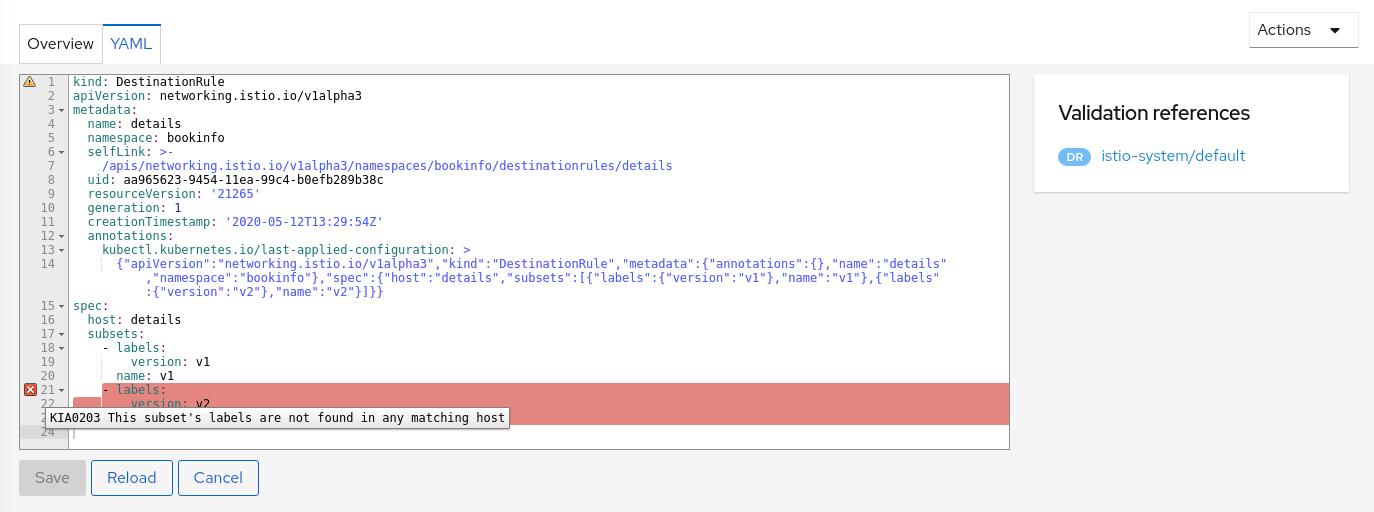 YAML Editor Showing Error Tool Tip