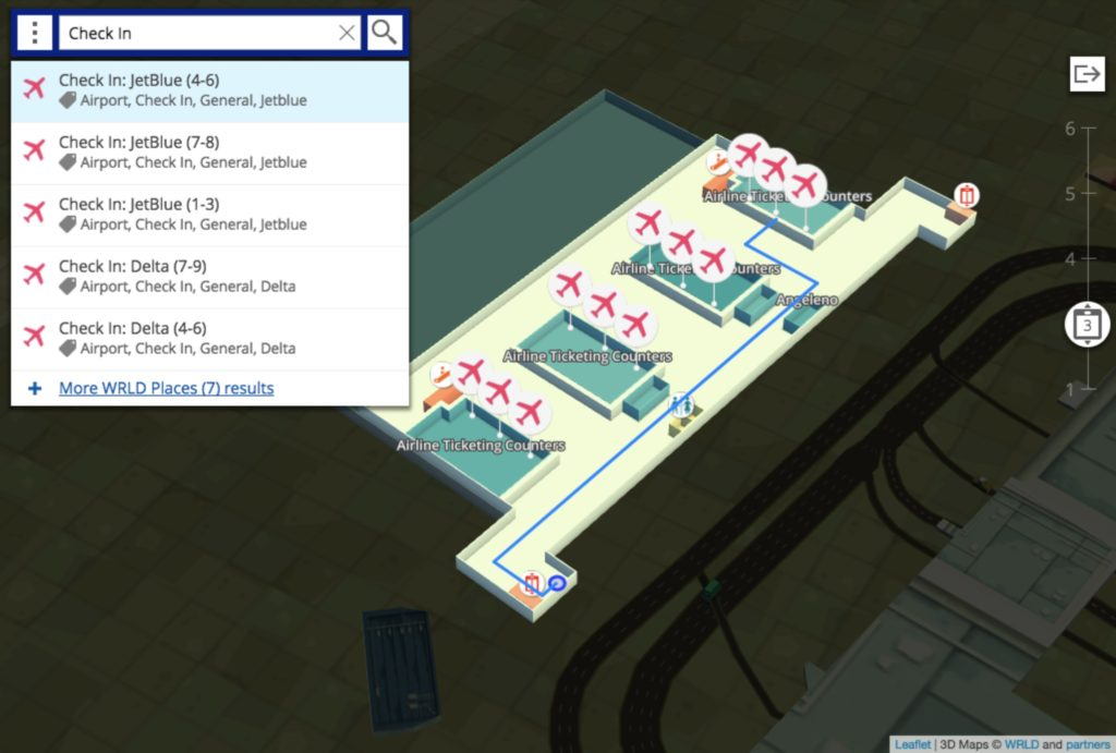 Example indoor map