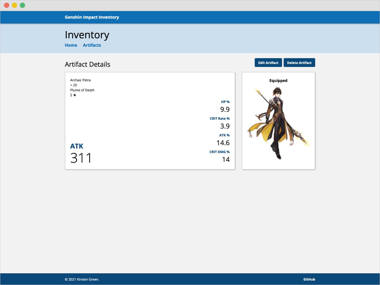 view artifact page