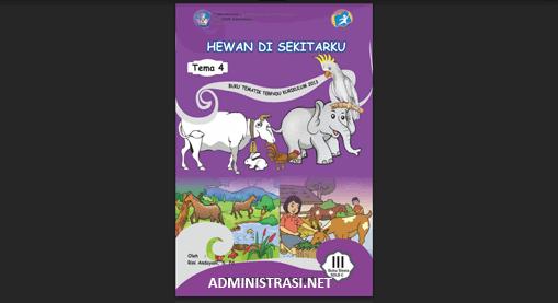 Buku Siswa Tunagrahita Kelas 3 Tema 4 Hewan disekitarku