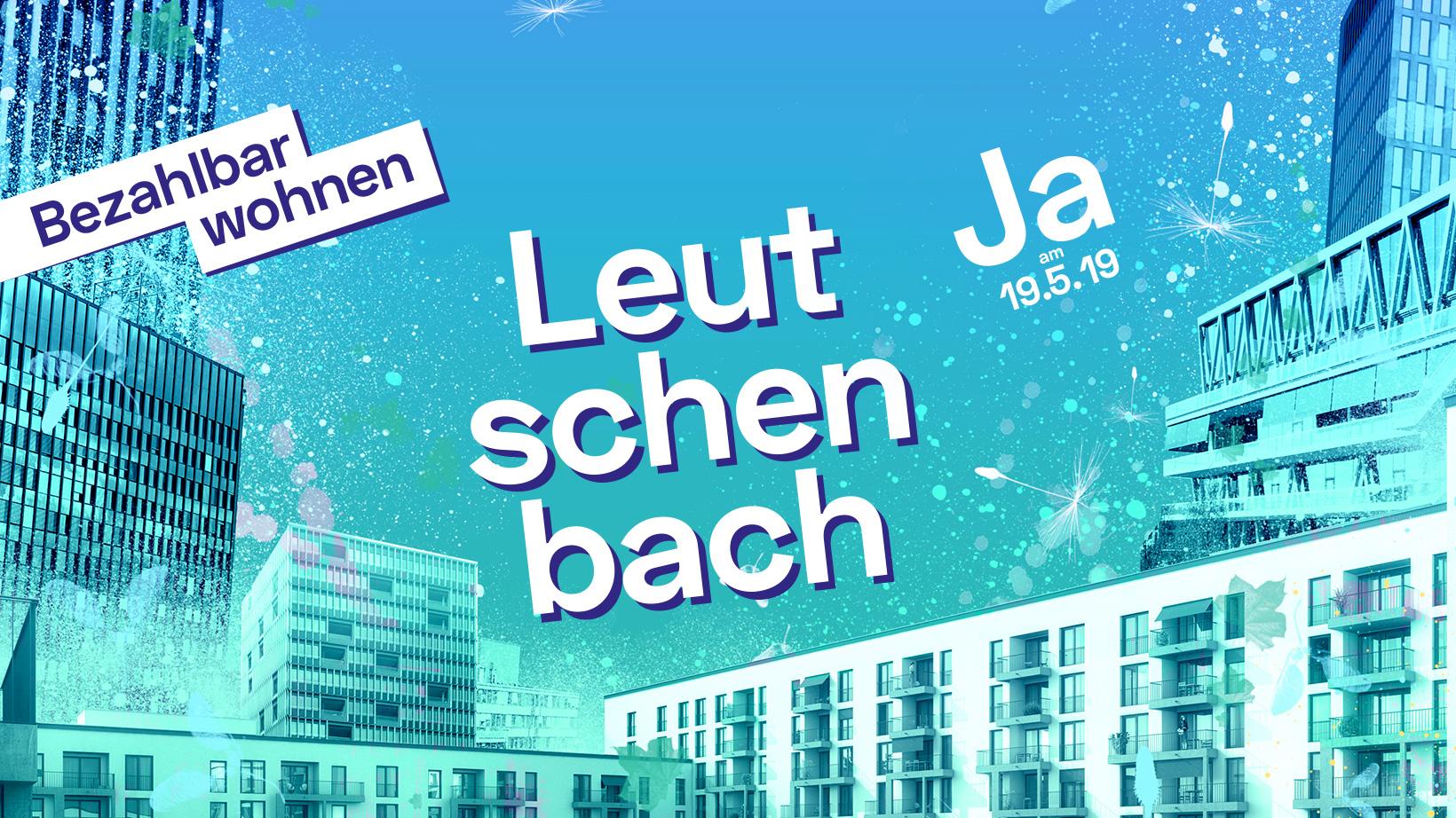 Leutschenbach Coverimage. Häusercollage in bunten Farben.