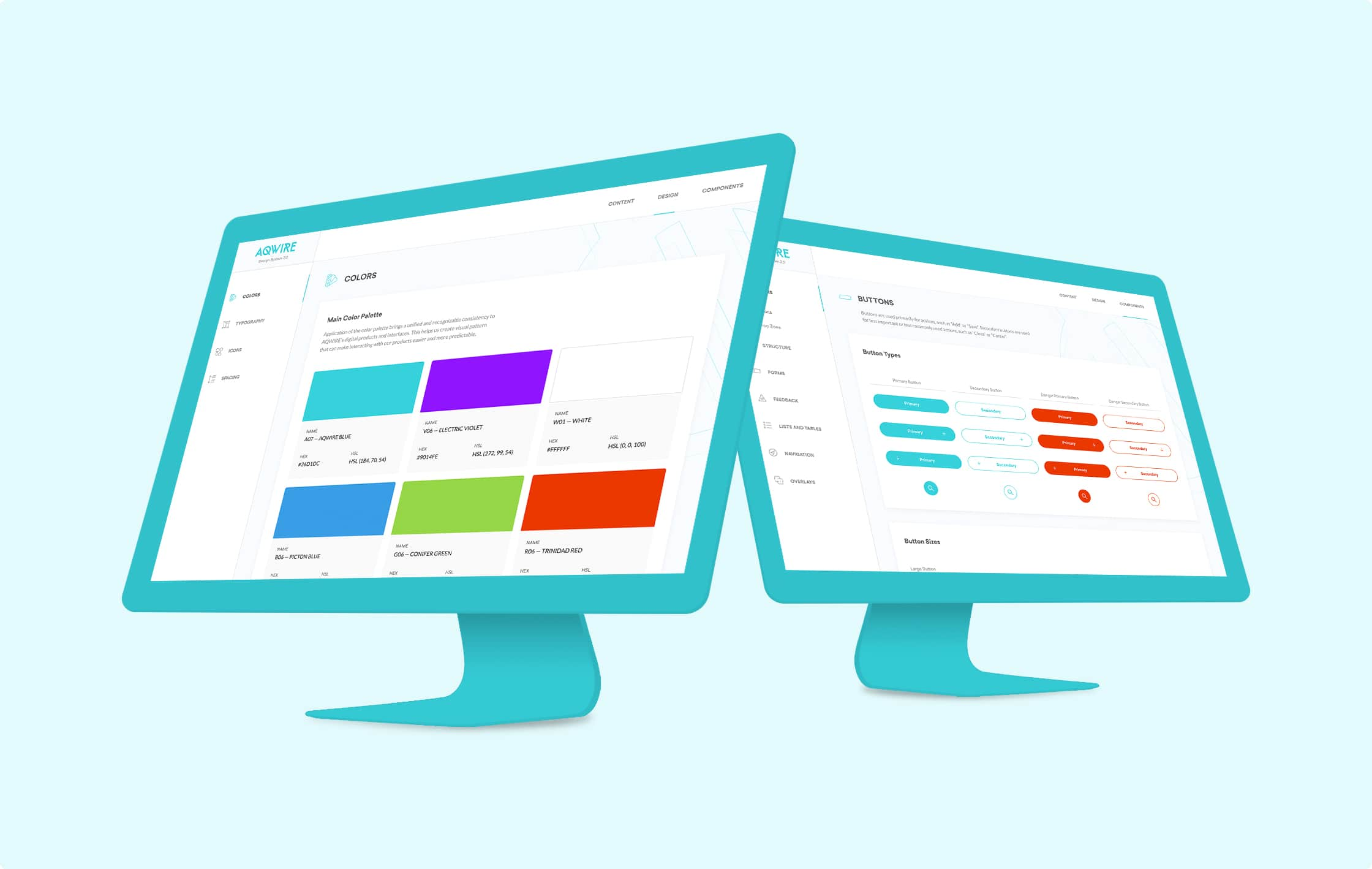 A preview of AQWIRE Design System