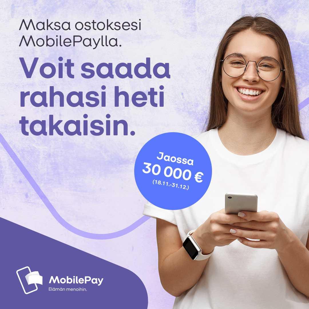 MobilePay Back -kampanjassa mukana ovat myös MyShopia käyttävien urheiluseurojen asiakkaat!