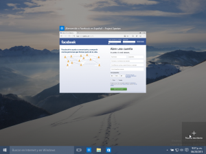 Nuevo escritorio Windows 10