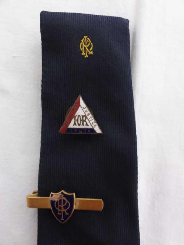 Rechabite Tie, Tie Clip and Lapel Badge