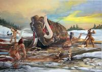 Image for Mammoth hunting ice age