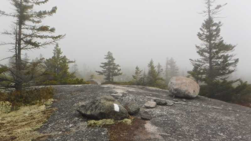 Poor visibility from Bemis Mountain Second Peak