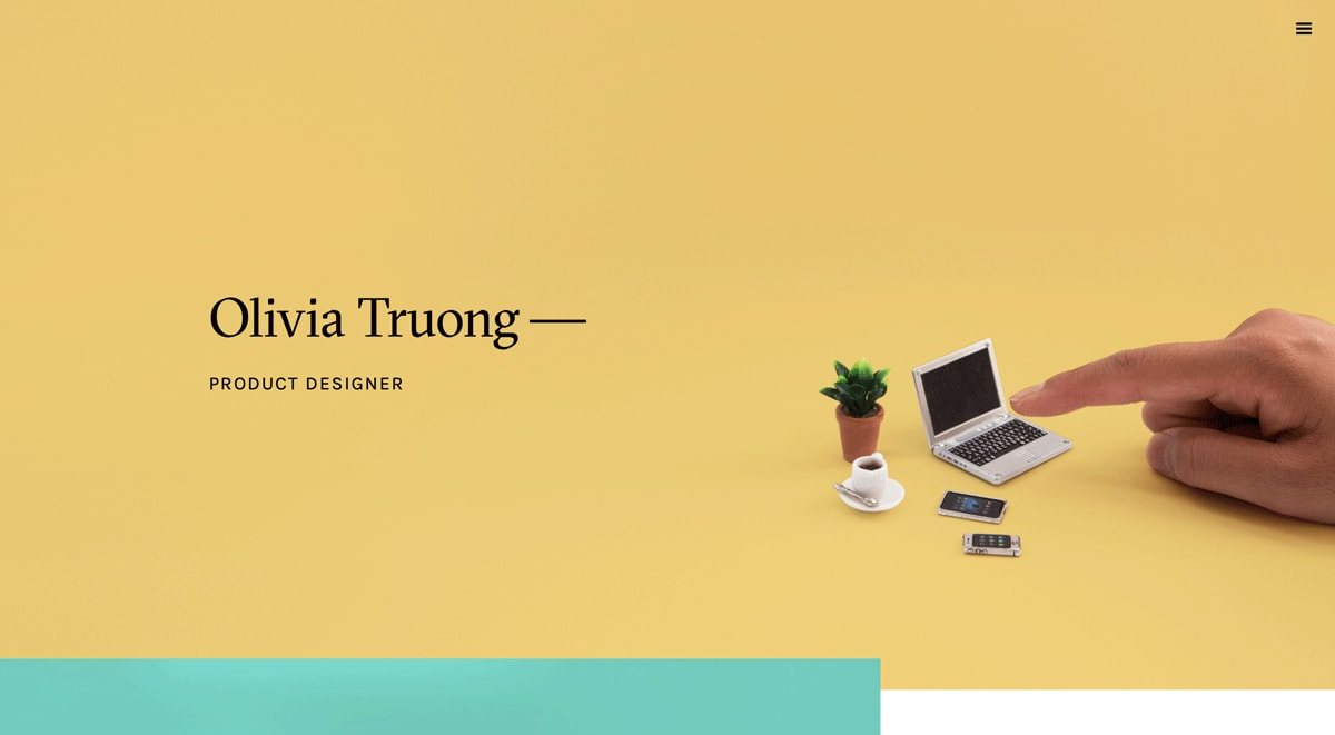 An extract from Oliva Truong's UX design portfolio