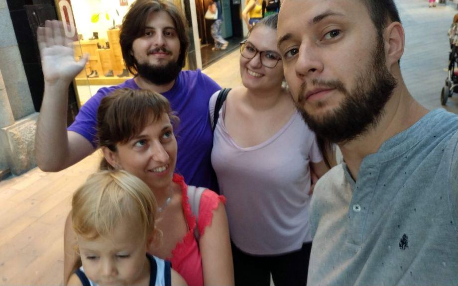 Me, Tea, Branko, Marina, and Pablo