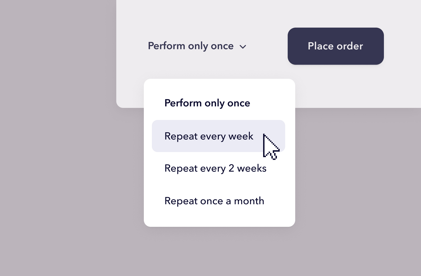 Set up regular testing. Third step: Selecting how often the test should repeat