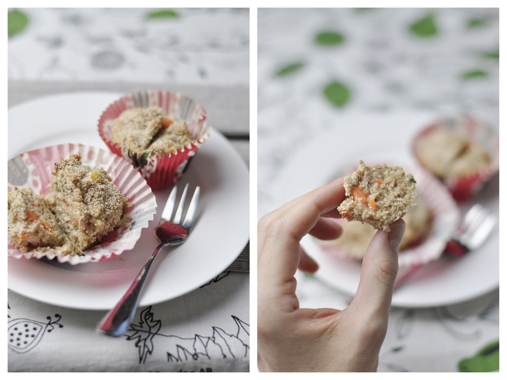 wholewheat vegetables muffins with poppy seeds