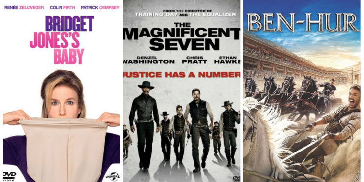 Bridget Jones's Baby, The Magnificent Seven and Ben-Hur