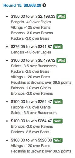 amazing bet ledger page