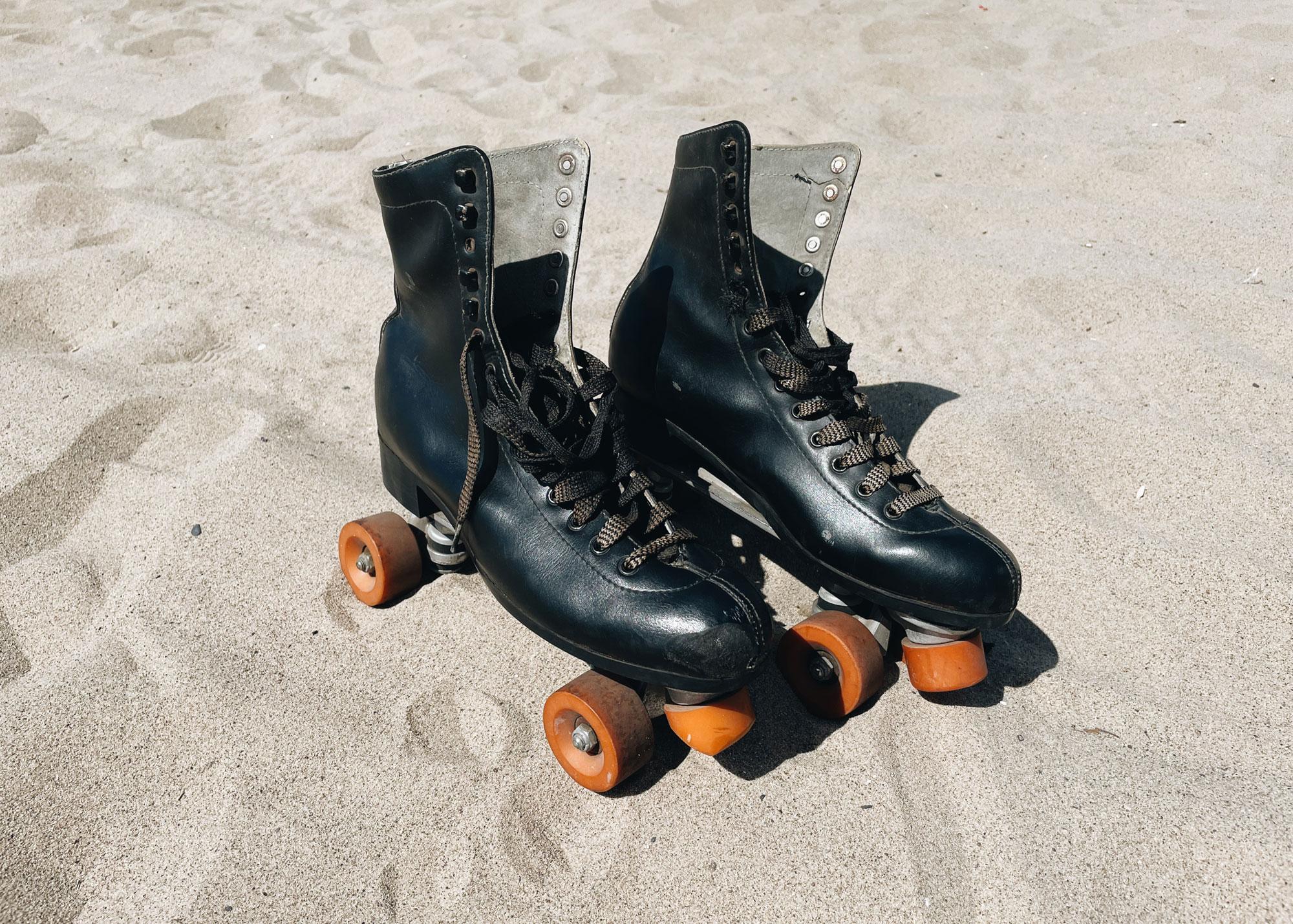My rollerskates hangin in Santa Monica.