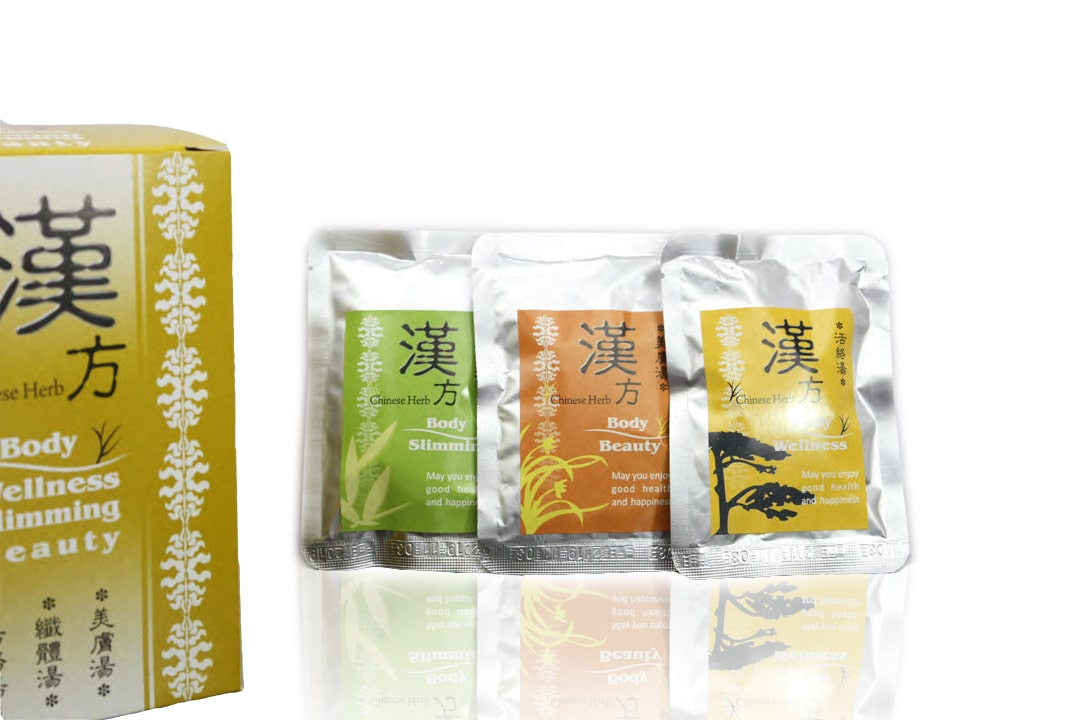 Chinese Herbs with packaging