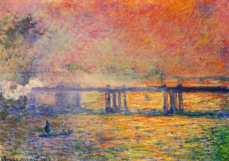 From the Charing Cross Bridge series by Claude Monet, 1899-1901, Saint Louis Art Museum