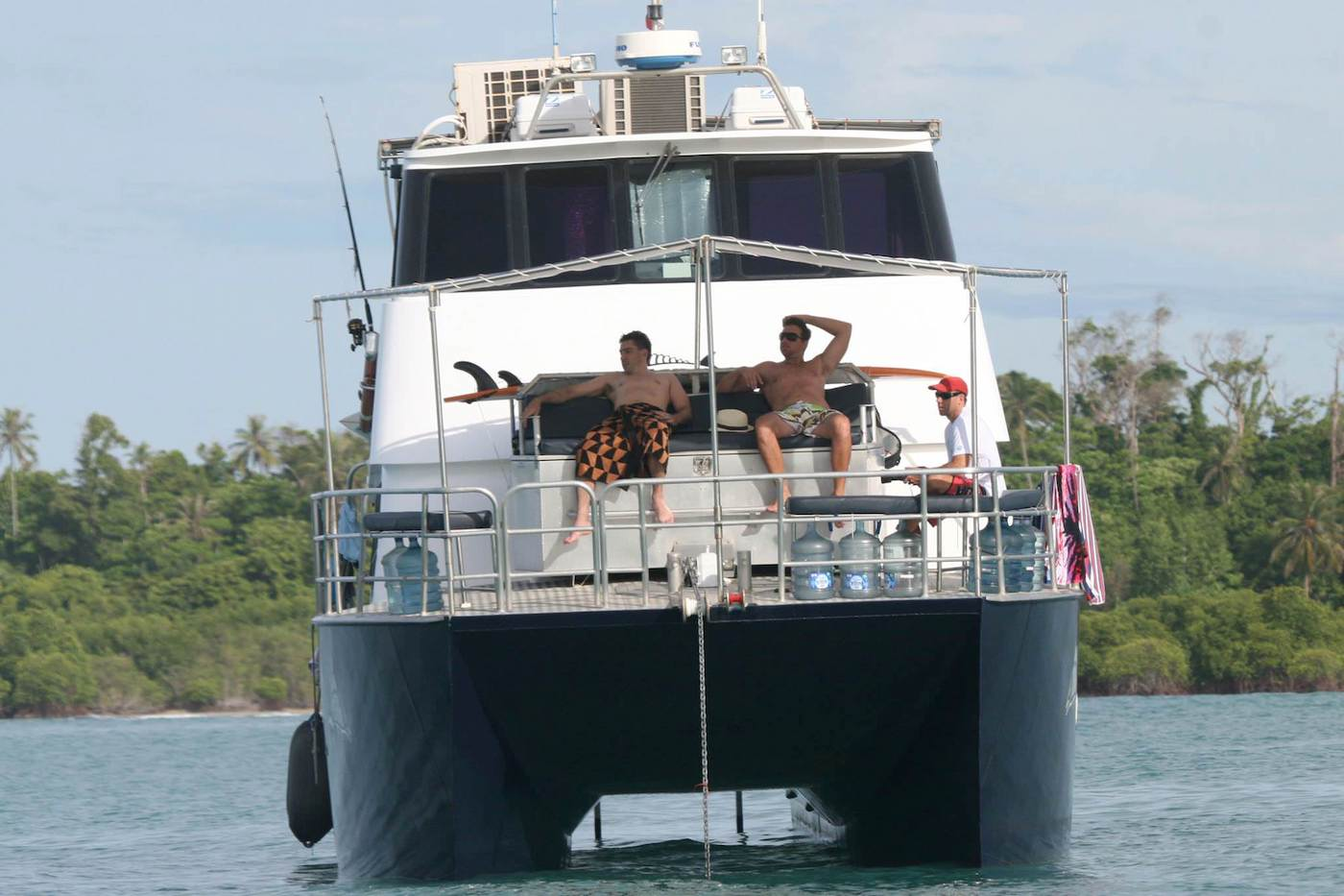 Tengirri Surf Charter Power Catamaran Mentawai Deck