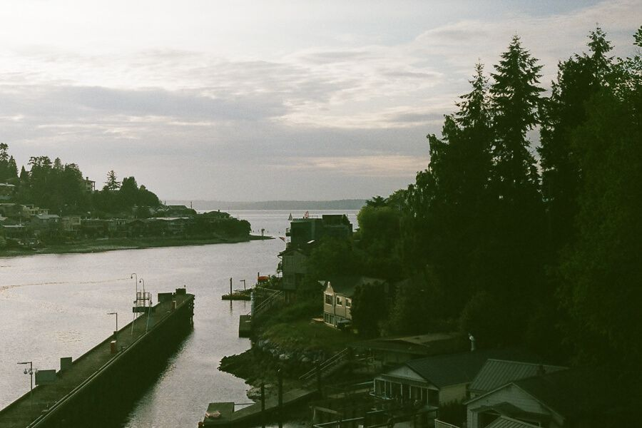 Coastline from the train