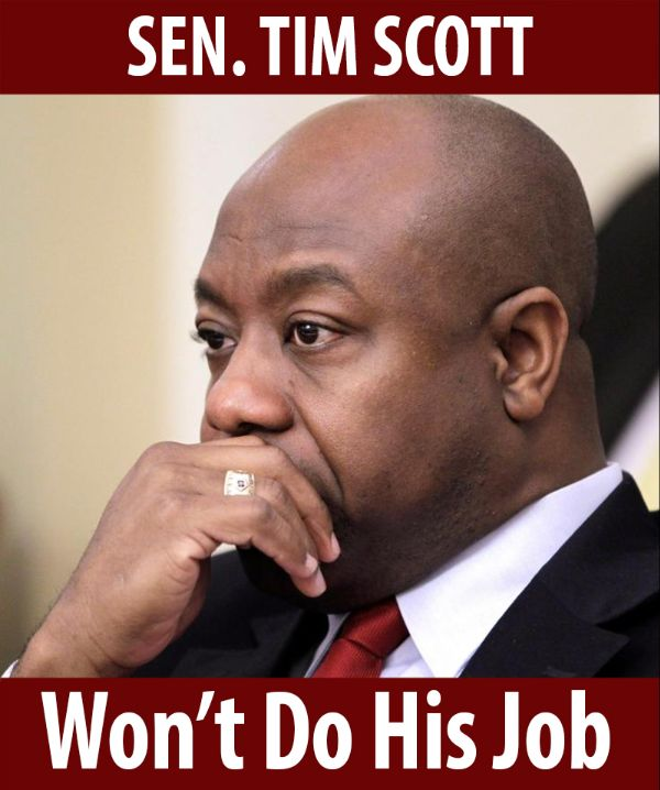 Senator Scott won't do his job!